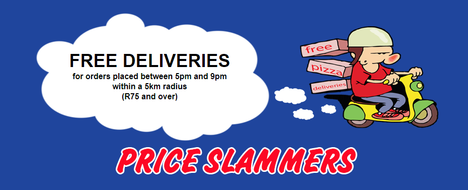 Price slammers Free deliveries